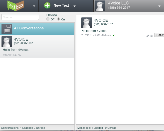 VoIP SMS-Texting